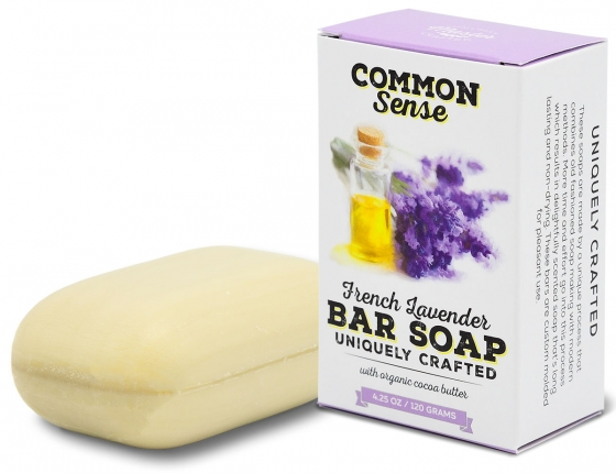 French Lavender Triple Milled Bar - EXCLUSIVE MILLED SOAPS Soap & Bodycare Soaps & Cleansers