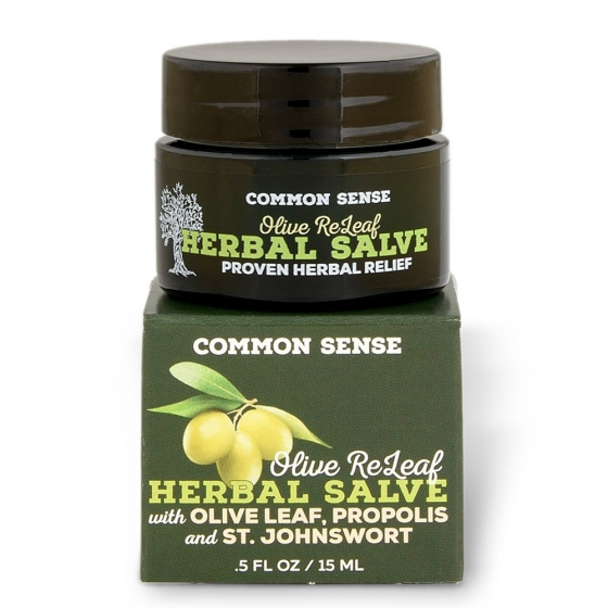 Olive ReLeaf Herbal Salve- 0.5 fl. oz - Soap & Bodycare Moisturizers Salves